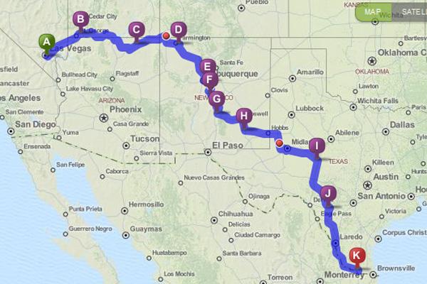 LV Trip MapInbound